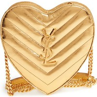 Saint Laurent 'Small Heart' Quilted Leather Crossbody Bag | Nordstrom