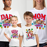 Paw Patrol Birthday Custom Family Shirts for Boys/Girls ,Also available for Kids And Parents,Personalizes Birthday Shirts