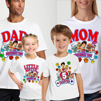Paw Patrol Birthday Custom Family Shirts From HolyMolyTees