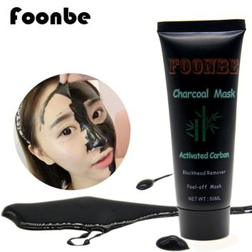 FOONBE Face care Black Peeling Peel Off  Mask Face Nose Blackhead Remover Black Head Charcoal Mask Face Cleaning Cream
