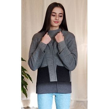 Icelandic Design Wool Sweater Jacket - Jonquil