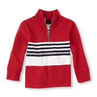 Half-zip Striped Shirt | The Children's Place