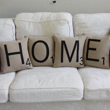 HOME Letter Pillows - Inserts Included