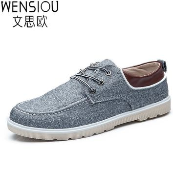 Famous Brand Design Men Shoes Casual Wild Fashion Canvas Shoes Lace Up New Spring Flat Shoes For Men ET11