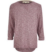 River Island MensRed textured marl t-shirt