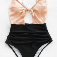 Cupshe Sweet Honey Bowknot One-piece Swimsuit