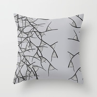 black branches Throw Pillow by Sandyshow
