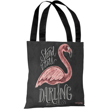 """Stand Tall Darling"" 18""x18"" Tote Bag by Lily & Val"