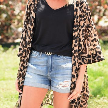 Can't Fight This Feeling Kimono - Leopard