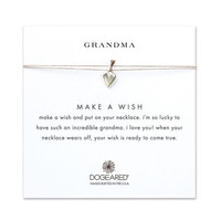 grandma kind heart taupe silk necklace, sterling silver - Dogeared