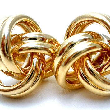 14K Yellow Gold Love Knot Earrings 4.5 Grams
