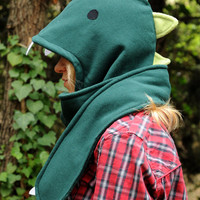 Dinosaur Hooded Scarf (Adult or Child)