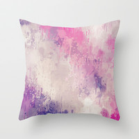 Garden Splatter Throw Pillow by Beth Thompson