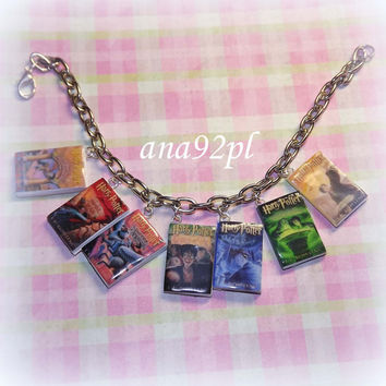 Harry Potter book charm bracelet HP miniature books by ana92pl