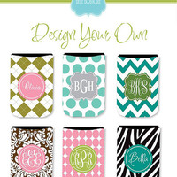 Personalized Beverage Koozie...Set Of 6... Great Bridesmaids Gifts