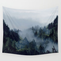 End in fire Wall Tapestry by Lostfog Co↟
