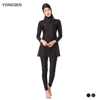 YONGSEN Muslim Swimming Women Modest Coverage Hijab Plus Size Muslim Swimwear Bathing Suit Beach   Swimsuit for Arabian