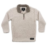 Youth Appalachian Pile Sherpa Pullover in Oatmeal by Southern Marsh - FINAL SALE