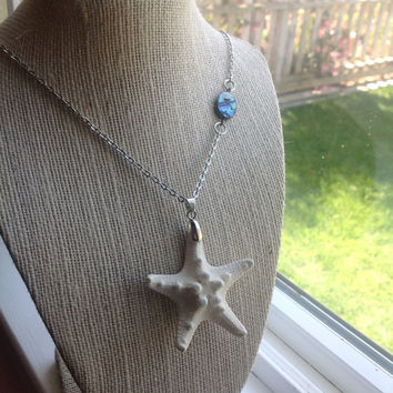 Mermaid Starfish and Abalone Necklace by thelocalmermaid on Etsy