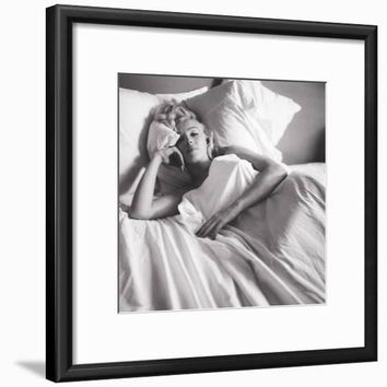 Marilyn Monroe: Bed Framed Art Print at Art.com