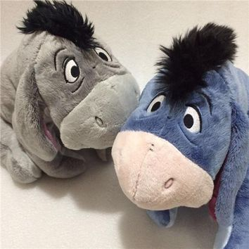 Original Gray Blue Special Eeyore Donkey Stuff Animal Cute Soft Plush Toy Doll Birthday Children Gift Collection