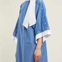 Striped tie-neck cotton shirtdress | Maison Margiela | MATCHESFASHION.COM UK