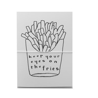keep your eyes on the fries note cards