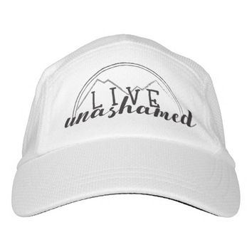 Live Unashamed Custom Knit Performance Hat, White Headsweats Hat