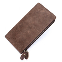 unisex retro handmade genuine leather wallet card hold purse 04