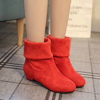 On Sale Hot Deal Winter Black Casual Flat Boots [7993616897]