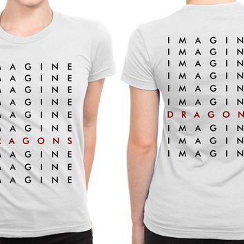 Imagine Dragons Much More Title B 2 Sided Womens T Shirt