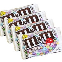 M&M's White Chocolate Candy 9.9oz - 4 Pack