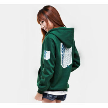 Survey Corps Green Hoodie