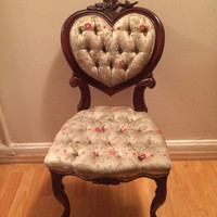 Kimball tufted heart shaped chair