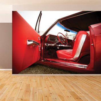 Red Mustang Interior Wall Mural Peel and Stick