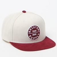 Brixton Oath III White & Red Snapback Hat - Mens Backpack - Off White/Red - One
