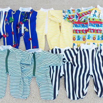 "Cabbage Patch Clothes, ""Liam at the Zoo"", pajamas, pjs, sleeper, doll pajamas, fits 16"" boy doll"