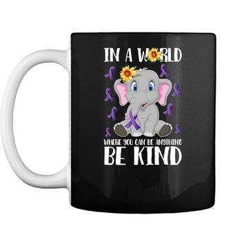 Elephant Sunflower Pancreatic Cancer Ribbon Awareness Shirt Mug