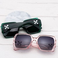 OFF-WHITE Tide brand personality pattern large frame men and women polarized sunglasses