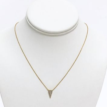 Bermuda Crystal Dainty Gold Necklace