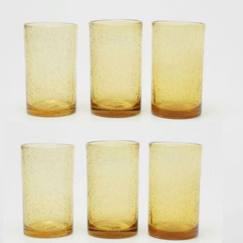TAG 555175 Wheat Bubble Glass Tumbler, Set of 6
