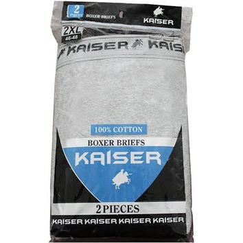 Kaiser 2 Pack Boxer Briefs - Small