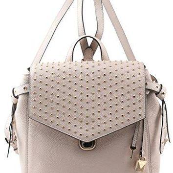 MICHAEL Michael Kors Bristol Medium Studded Leather Backpack in Soft Pink