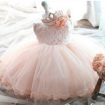 2017 new ball gowns for girls for wedding flowers girl costume princess party kids dresses for girls 1 years birthday dress kids