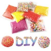 15 Pack Mini Colorful Round Foam Balls Beads Kids Art DIY Crafts Crystal Bottle Decoration Accessories Homemade Birthday Gifts