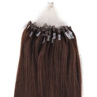 100s 16'' 18'' 20'' 22'' 24'' 26'' Loops Micro Rings Beads Tipped Remy Human Hair Extensions Straight 10 Colors in Women Beauty Style