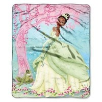 Disney Princess and the Frog 46x60 Micro Raschel Throw