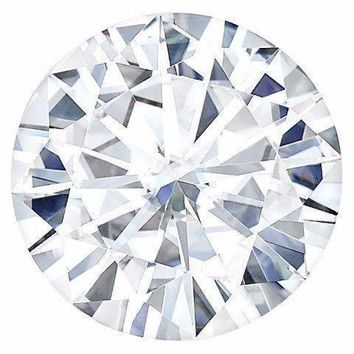 Certified Round Forever One Charles & Colvard Loose Moissanite Stone - 2.35 Carats - D Color - VS1 Clarity