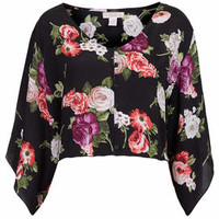 Wide Sleeve Blouse by Band of Gypsies - Black