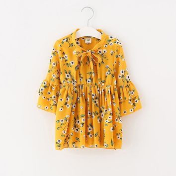 Summer Child Girls chiffon Flower Dresses Baby Girl bow Dress For Party Dance Kids Baby Princess Night Clothes Children Costumes